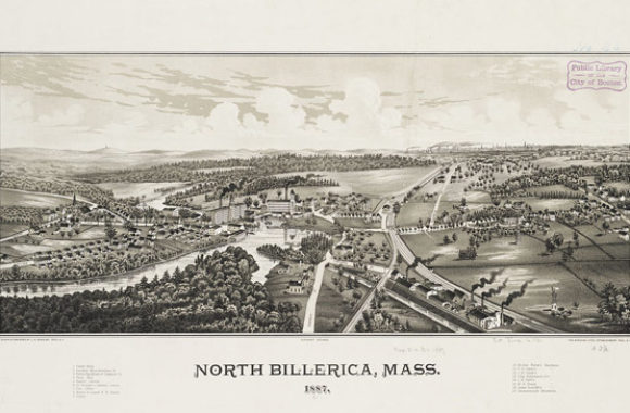 Billerica MA North Billerica 1887 by L.R. Burleigh