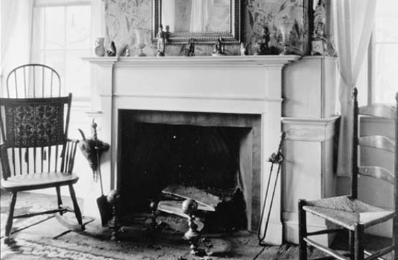 Chelmsford MA Historic Fiske House Mantel Northwest Room 2nd Floor