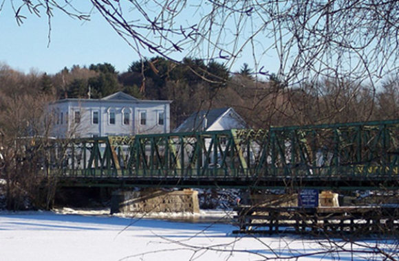 Groveland MA Old Bates Bridge on the Merrimack River