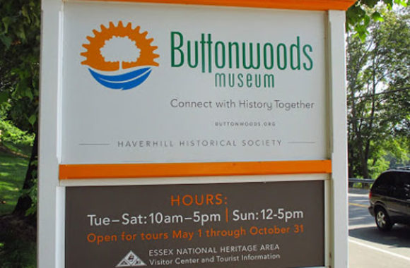 Haverhill MA Buttonwoods Museum Signage
