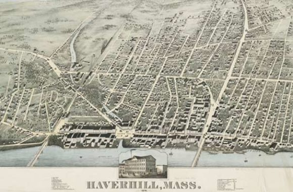Haverhill MA Map of Haverhill 1876