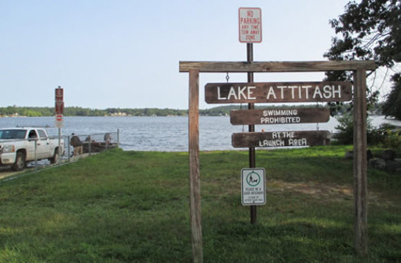 Merrimac MA Lake Attitash Sign Board
