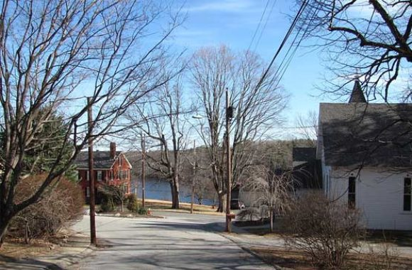 Merrimac MA View of Merrimacport from High Street