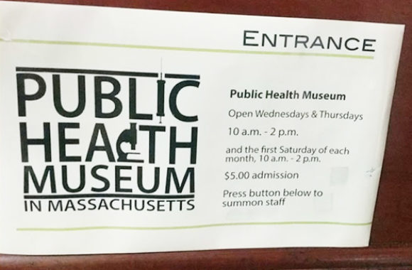 Tewksbury MA Public Health Museum Sign