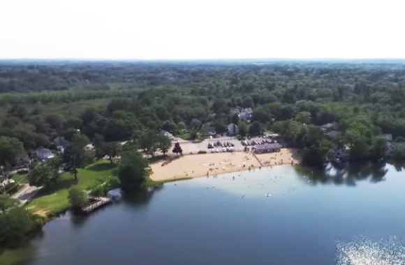 Wilmington MA Silver Lake Aerial View